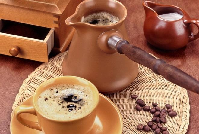 кофе в турке с пенкой