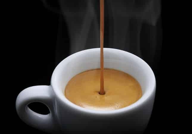 заваренная чашка кофе